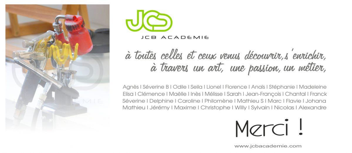 Carte remerciements JCB Academie 2016